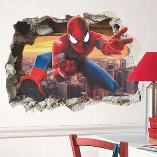 💥Superheroes Justice League Spiderman wall decal / wall stickers / Home deco