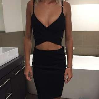 BLACK CUT OUT DRESS SZ6