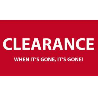 Clearance Sale!!!