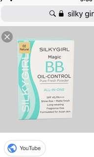 Silky girl oil control pressed powder