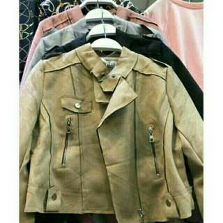 Jacket jaket suede import
