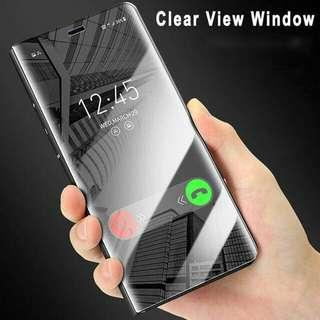 Samsung J2 Prime Flip Cover Smart Mirror Case Magnet Autoloc