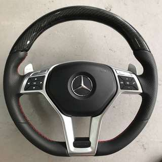 Rare* AMG Carbon steering wheel with airbag and E63 aluminum peddle shift