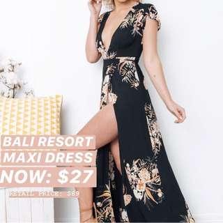 INSTOCKS Bohemian Bali Resort Maxi Dress