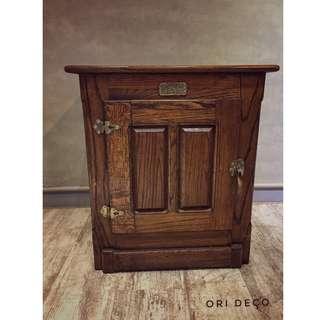 //ORI DECO工業風老件// 美國帶回 橡木邊櫃 ICE BOX 五金美 乾淨 木紋漂亮