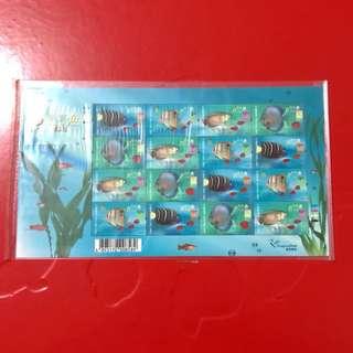 香港熱帶魚郵票小版張