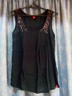 Black top with sequins