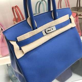 Hermes Birkin 30 7Q愛琴海水藍 Epsom🌈近新美品 ⛄️