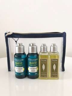L'occitane shower gel travel set