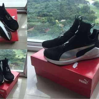 Puma fierce black silver