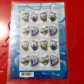 香港水郵票小版張