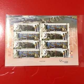 香港漁村郵票小版張