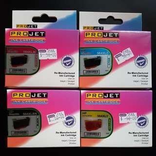 HP 564 代用墨盒(4色:紅黃藍黑)(打印機)