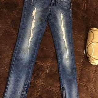 Lee jeans tattered