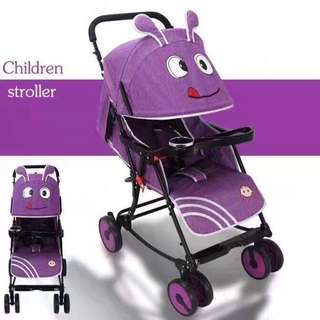 2 in 1 Stroller Convertible to Rocker Violet