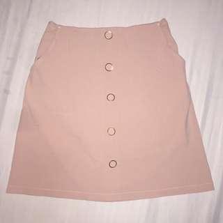 Pastel Pink A-Line Skirt