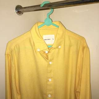 Basic House Soft Yellow Cotton Shirt