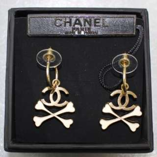 Chanel Gold Dangling Pierce Earrings