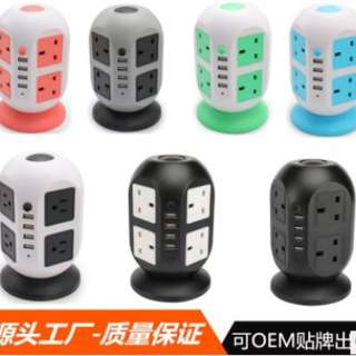 multi layer multiple Universal sockets and multiple USB adeptor. Many options singapore 3 pin plug