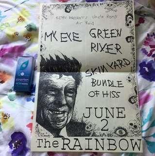 Green River / Skin Yard original concert flyer - grunge collectible