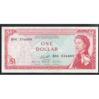 1965 $1 East Caribean states $1