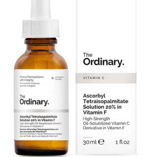 Ordinary - Ascorbyl Tetraisopalmitate Solution 20% in Vitamin F 精華油