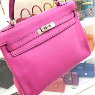 Hermes Kelly 32 5J 桃粉色 🌈秒殺走 不議
