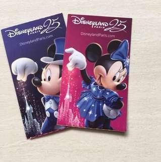 Disneyland Mickey and Minnie tickets