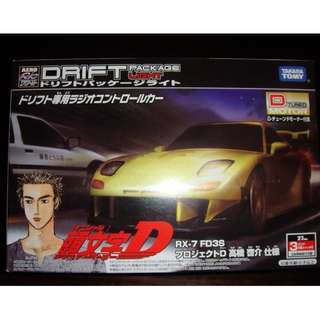 BNIB Takara Tomy Drift Package Light RX-7 FD3S (Initial D) Remote Control (RC)  Car