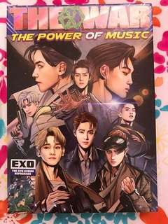 EXO THE WAR: THE POWER OF MUSIC ALBUM W/O POSTER