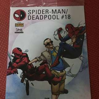 Marvel Spider-man/Deadpool #18 Stan Lee Box Variant