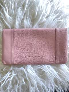 STATUS ANXIETY pink genuine leather wallet purse BNWT
