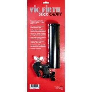VIC FIRTH 鼓棒桶 stick caddy   特色:  最多可容納三雙5A的鼓棒。方便的設計、完美的做工。           夾具堅固耐用不輕易移位,適用各種尺寸的支架。          可隨自身習慣調整角度,堅固不銹鋼材質,桶管內部鋪有橡膠保護鼓棒!  商品規格: 金屬 黑色
