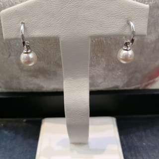 18k白金日本珍珠耳環🈹🈹