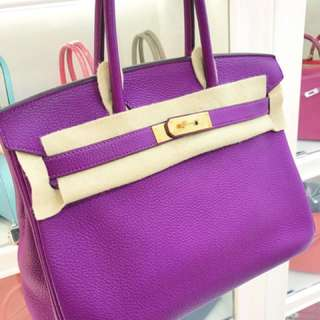 Hermes Birkin 30 P9紫色🌈金扣 togo 🐎