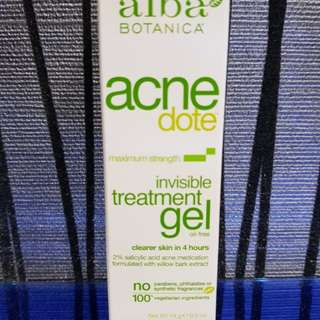 BN Alba Botanica Acne Dote Invisible Treatment Gel
