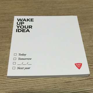 SAF50 'Wake up your idea' Post It