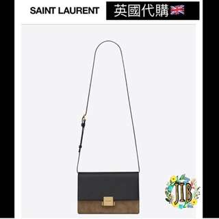Saint Laurent❤️ MEDIUN BELLECHASSE SAINT LAURENT BAG IN BLACK LEATHER AND TAUPE SUEDE
