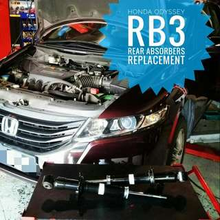 Honda Odyssey RB3 : Original Rear_Absorbers Replacement.