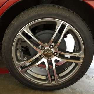 "17"" beautiful Alloy Rims With Tires"