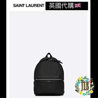 Saint Laurent❤️ MINI CITY BACKPACK IN BLACK LEATHER
