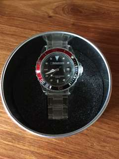 Watch with date, gift box