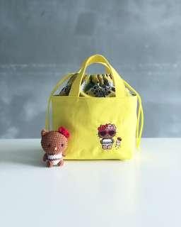 Applelulu Crafts' Sunshine Hello Kitty Drawstring Tote Bag
