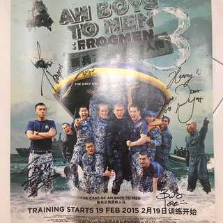 Ah Boys To Men Signed Poster