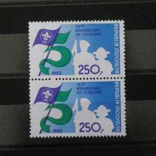 2 Blok Perangko Pramuka 1983
