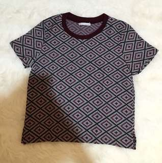 Zara T-Shirt (pattern) Size M (Woman)