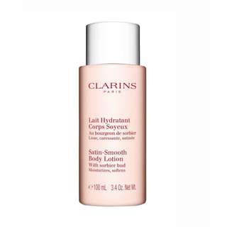 CLARINS Satin-Smooth Body Lotion with Sorbier Bud - Moisturizes/Softens 100ml