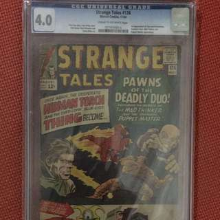 Marvel Strange Tales #126 CGC 4.0 First Appearance of Dormammu & Clea)