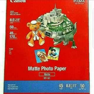 "BNIB 50shts 8.5""×11"" Canon Matte Photo Paper MP-101"