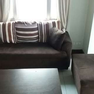 3 seater sofa couch with ottoman